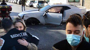 Sosyal medya fenomeni Enes Batur Etiler'de lüks otomobiliyle kaza yaptı