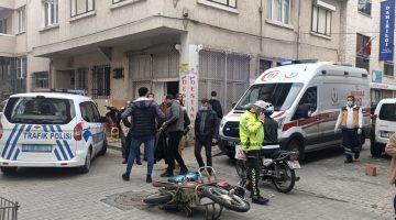 Nazilli'de Korkutan Motor Kazası